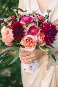 wedding-bouquets-beautiful-unique-natural-with-dahlias-and-roses-pink-and-burgundy-izzy-hudgens-photography-334x500