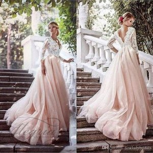 15 божествено красиви идеи за цветни булчински рокли от Алегрия