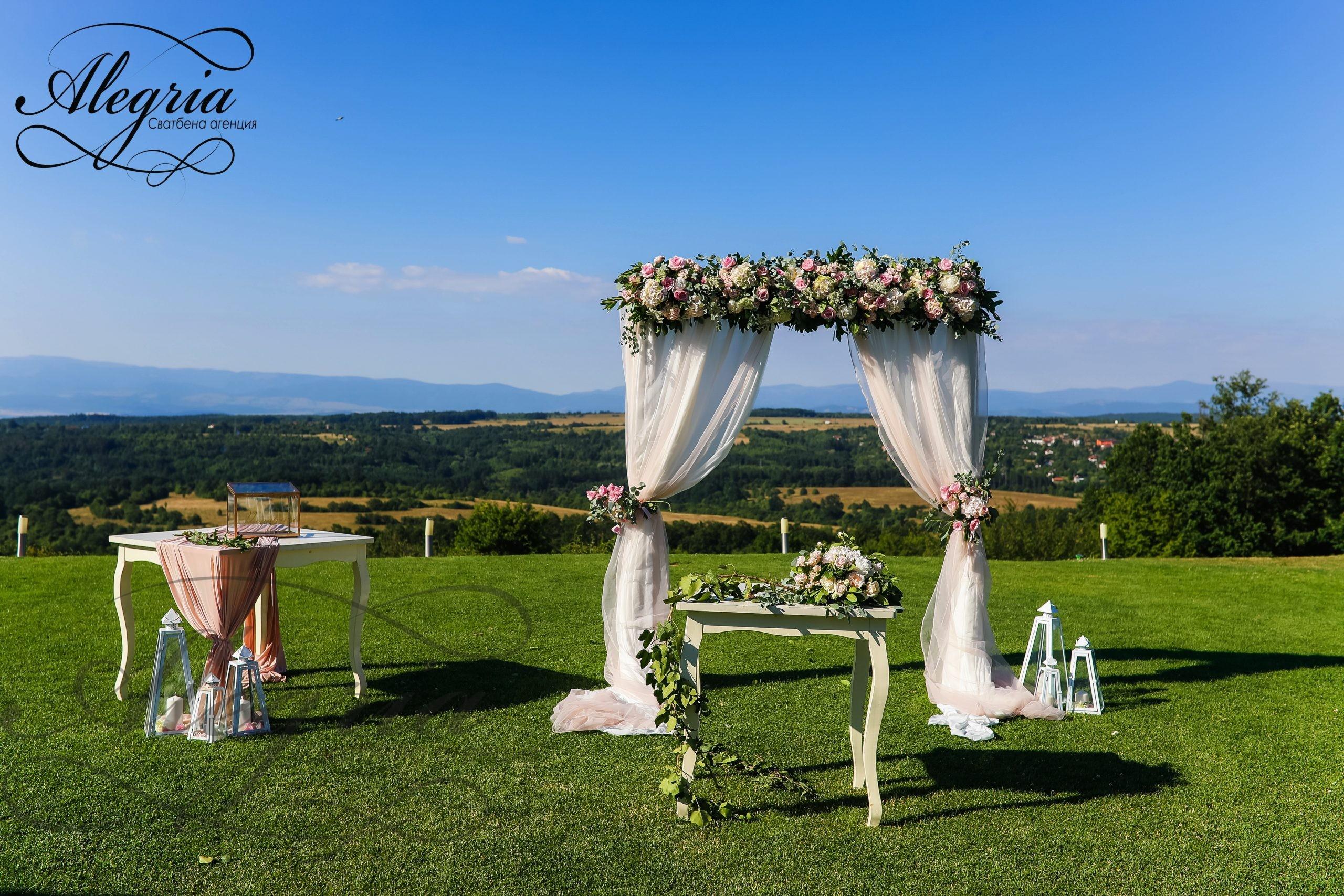 Сватбена декорация във Вила Екатерина