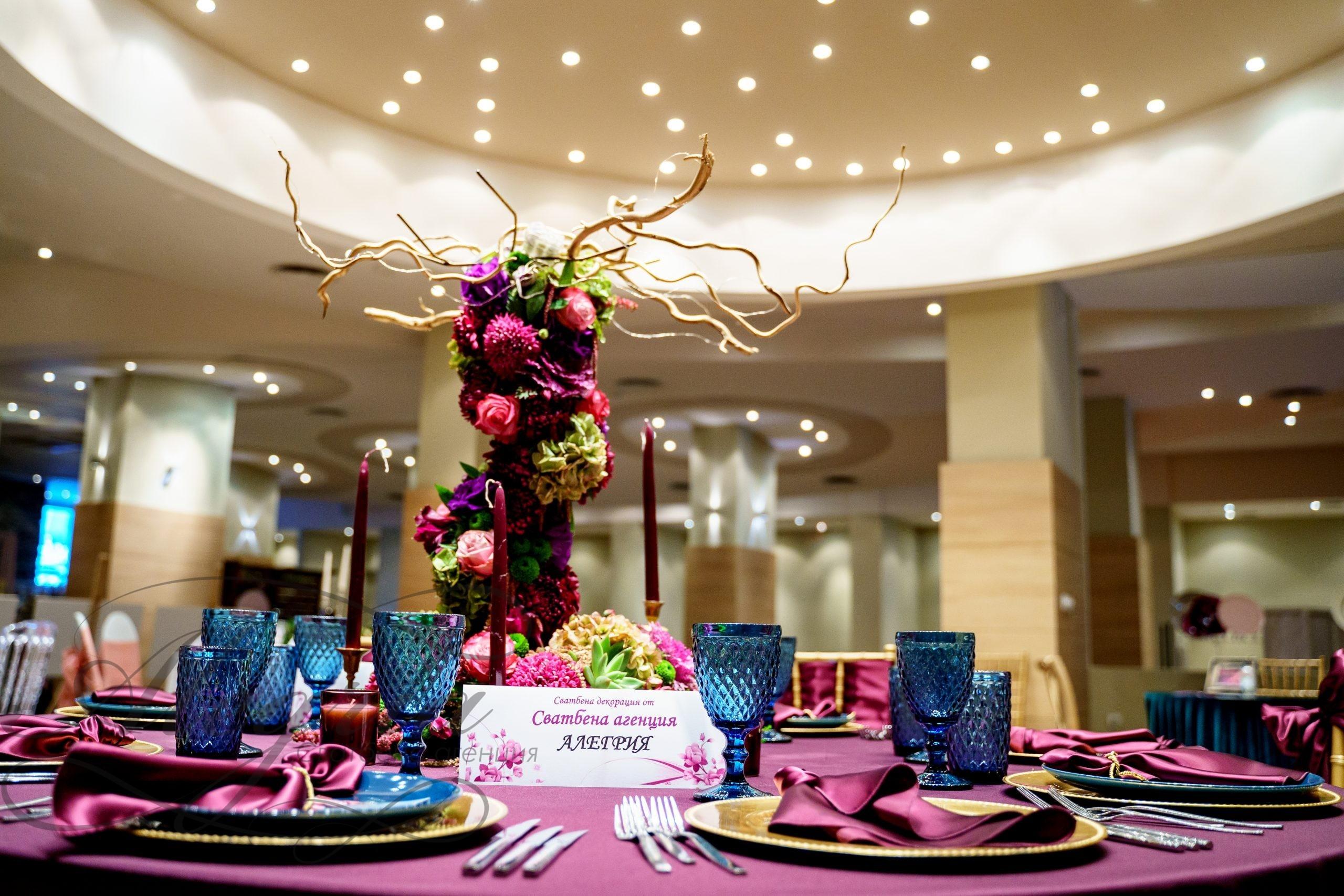 Сватбена декорация в хотел Експо