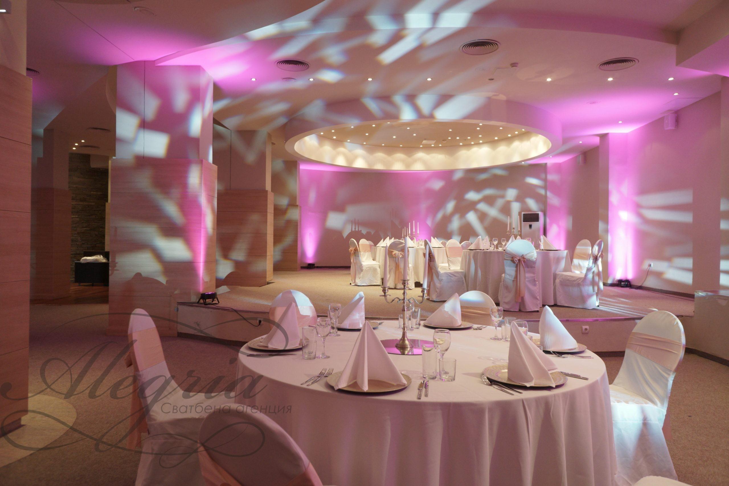 Осветление за сватба или събитие от сватбена агенция Алегрия