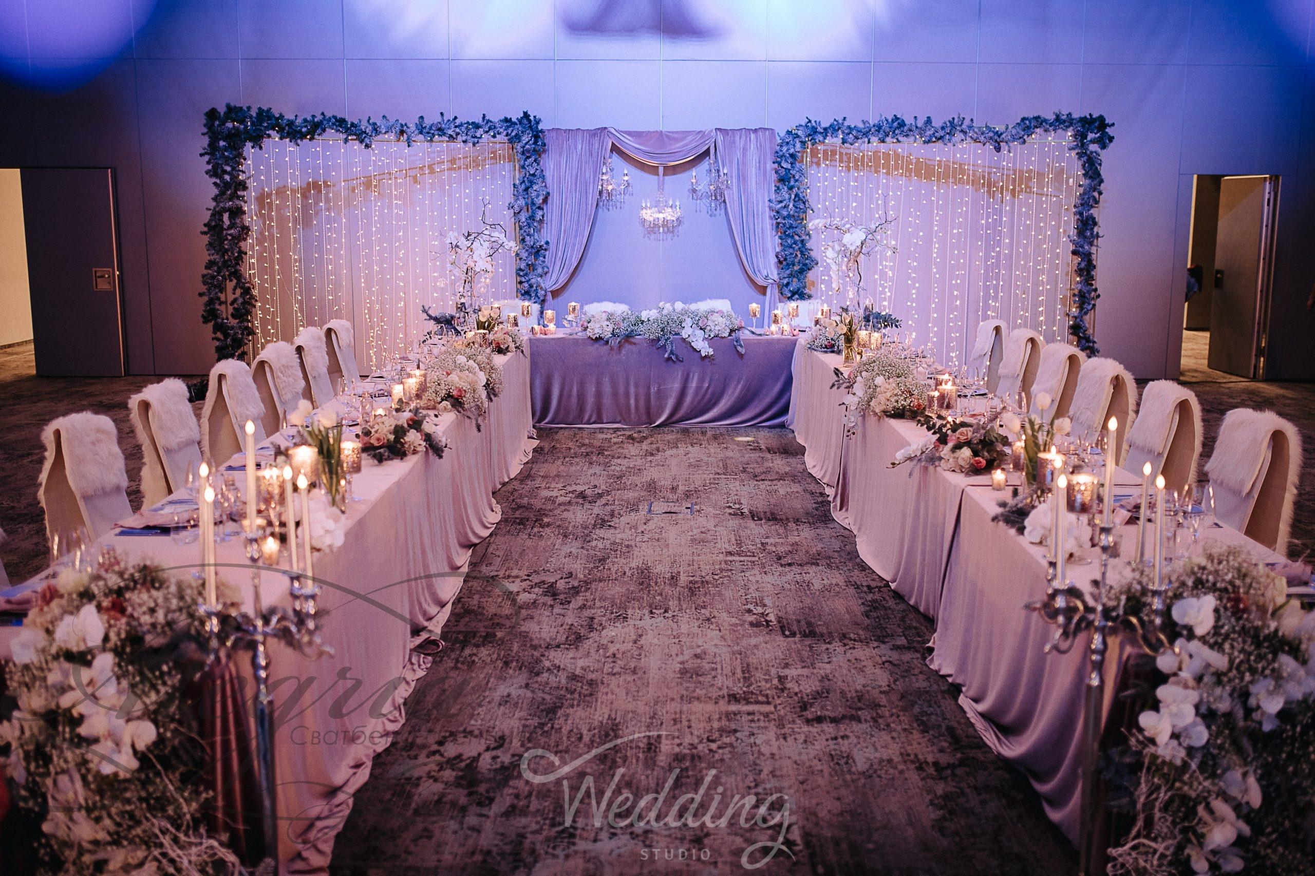 Сватбен декор в стил леденото кралство